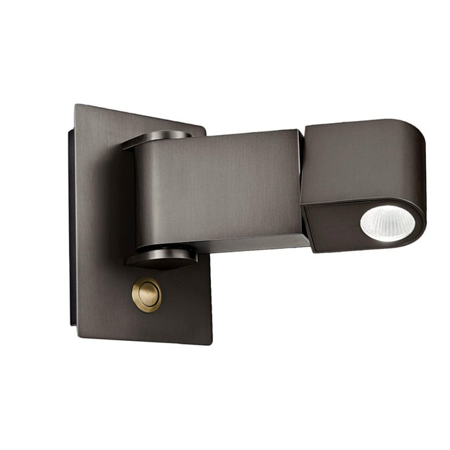 Led Reading Light Black Bronze With English Brass For Sale - Image 4 of 4