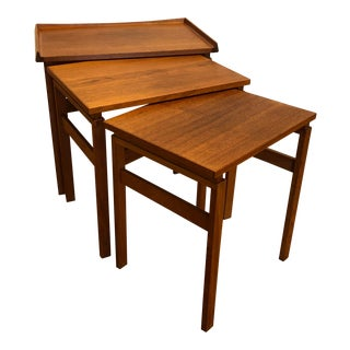 Moreddi Danish Teak Nesting Tables For Sale