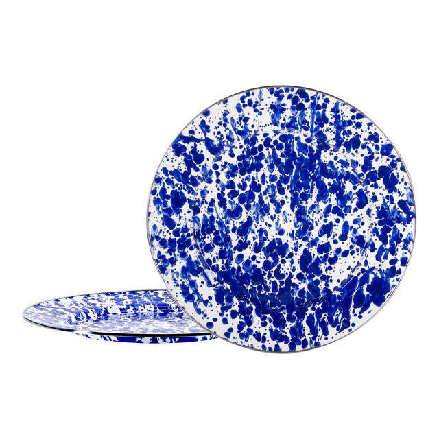 Charger Plates Cobalt Swirl - Set of 2 For Sale