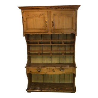 1970s Pine Hutch Cabinet For Sale