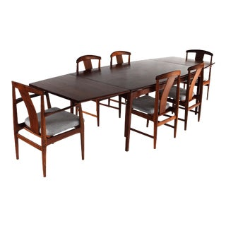 1960s Scandinavian Modern Folke Ohlsson & Jens Risom for Dux Dining Set - 7 Pieces For Sale