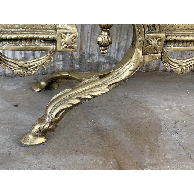 19th Century French Louis XVI Style, Three-Panel Bronze Fire Screen For Sale In Miami - Image 6 of 9