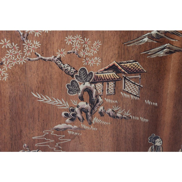 Drexel Heritage Hollywood Regency Chinoiserie King Size Headboard For Sale In South Bend - Image 6 of 10