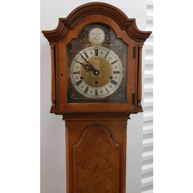 Mid 20th Century Vintage Tall Case Clock by Elliott, England For Sale - Image 5 of 13