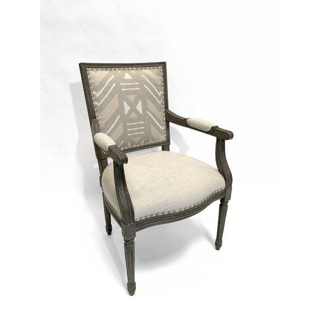 Palecek Palecek Lion Square Back Arm Chair For Sale - Image 4 of 10