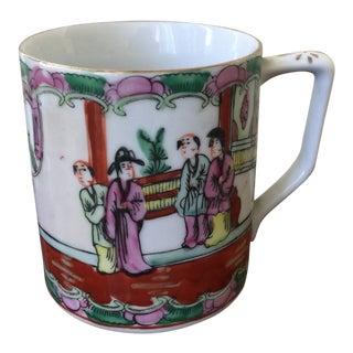 Vintage Chinese Ceramic Mug For Sale
