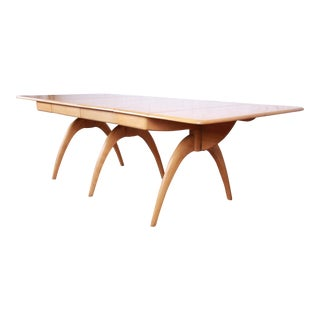 Heywood Wakefield Mid-Century Modern Extension Wishbone Dining Table For Sale