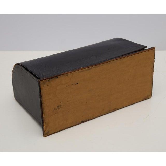 Gold Antique Leather Desk Stationery Letter Organizer For Sale - Image 8 of 8