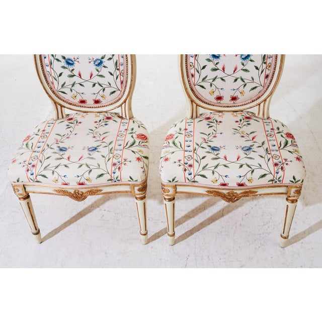 Textile Early 20th Century Gustavian Chairs- A Pair For Sale - Image 7 of 7