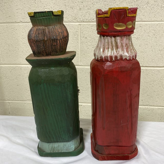 Mediterranean Style Carved Wood Wine Bottle Holders For Sale - Image 4 of 10