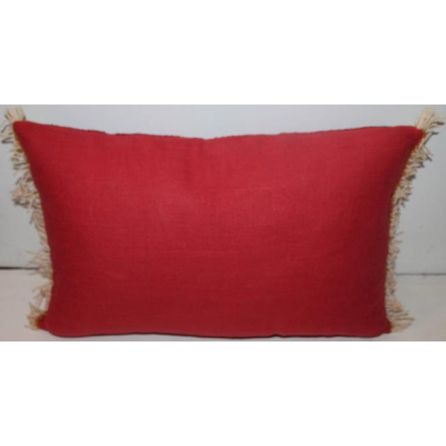 Bold Navajo Indian Weaving Pillow with Fringe For Sale - Image 4 of 5