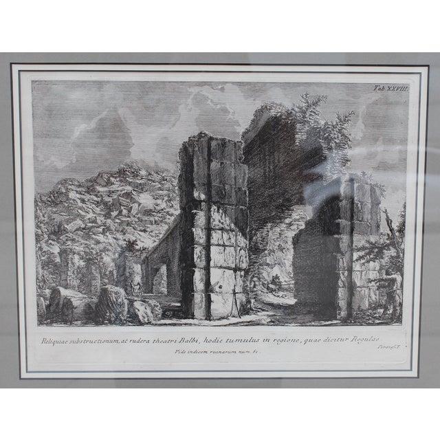 Piranesi Theater of Balbus Engraving by Piranesi For Sale - Image 4 of 5