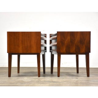 """Lane """"First Edition"""" Walnut Nightstands - a Pair Mid-Century Modern Preview"""