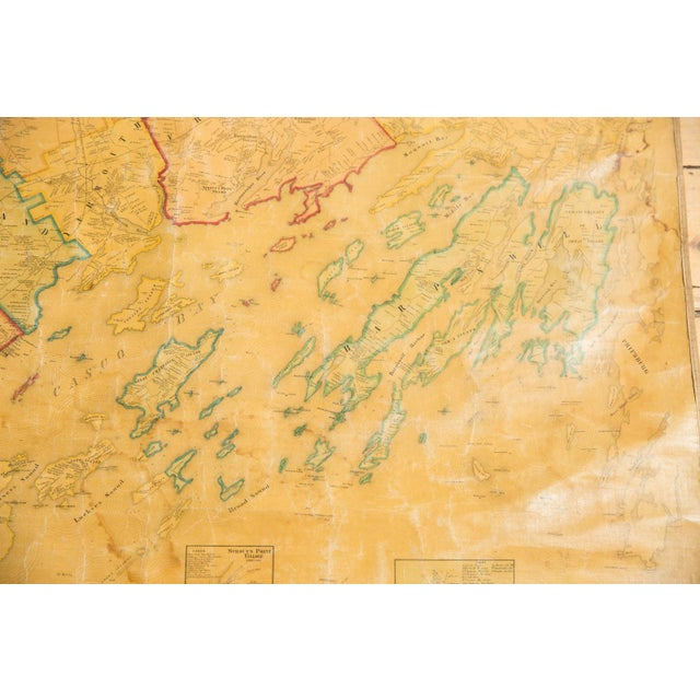 Paper 1860s Cumberland County Maine Wall Map Featuring Portland For Sale - Image 7 of 11