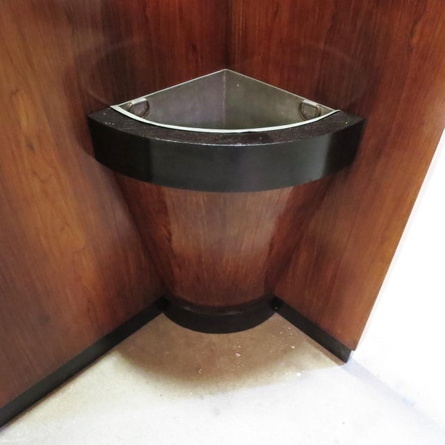 Art Deco 1930s Art Deco Entry Hall Tree With Mirrors and Umbrella Stand For Sale - Image 3 of 8