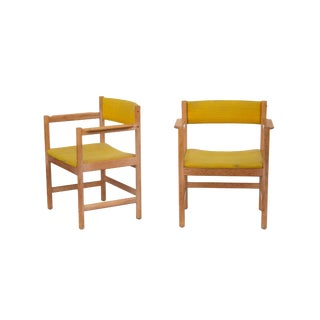 Swedish Armchairs by Borge Mogensen, Pair For Sale