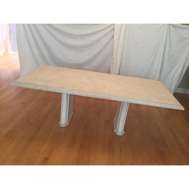 Solid Travertine Dining Table - Perfect and Incredible - Image 11 of 11