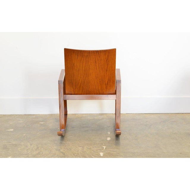 Mid-Century Modern Mario Prandina Dondolo Rocking Chair in Oak For Sale - Image 3 of 4
