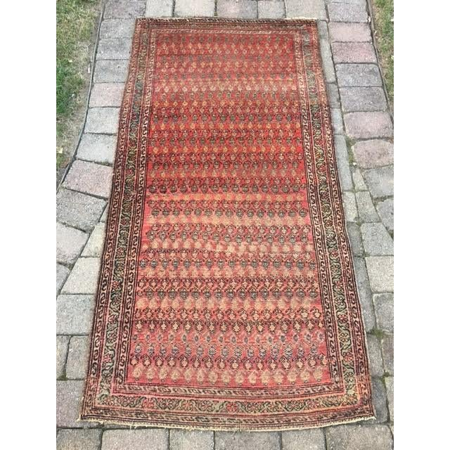"Antique Hamadan Rug - 3'4"" X 6'6"" - Image 2 of 9"