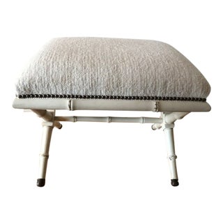 Hickory Chair Faux Bamboo Leg Footstool