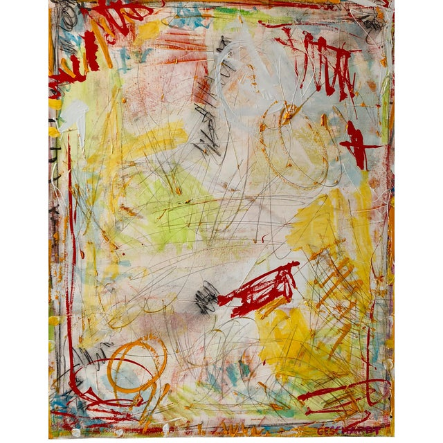 Washington Square Park Abstract Painting For Sale