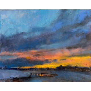 """""""Cape May Sunset"""" Contemporary Impressionist Style Seascape Print by Amy Griffith Colley For Sale"""