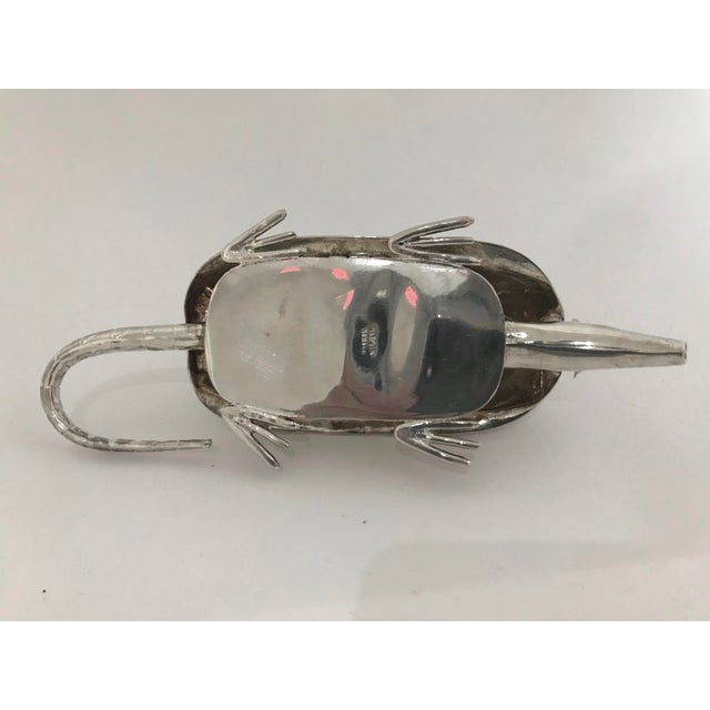 Figurative 20th Century Figurative Silver Armadillo Form Lidded Box With Abalone Shell For Sale - Image 3 of 7
