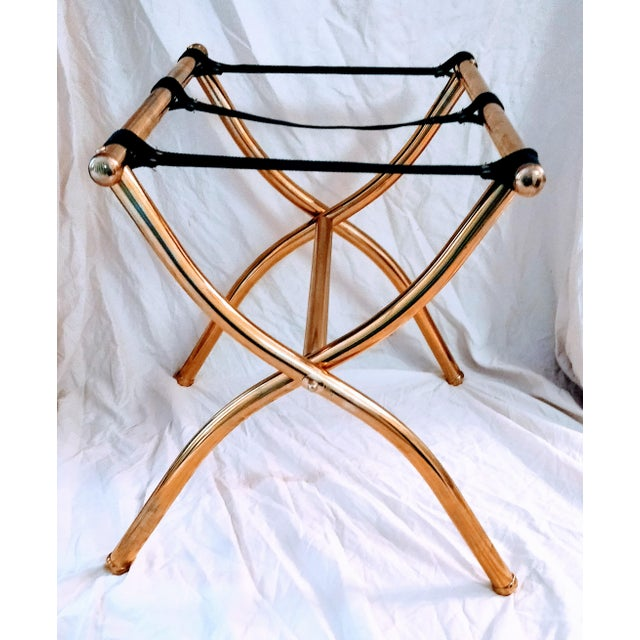 Late 20th Century Brass Luggage Rack / Valet For Sale - Image 11 of 11