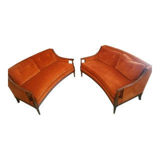 Mid Century Modern Henredon Sofa Settees - A Pair For Sale