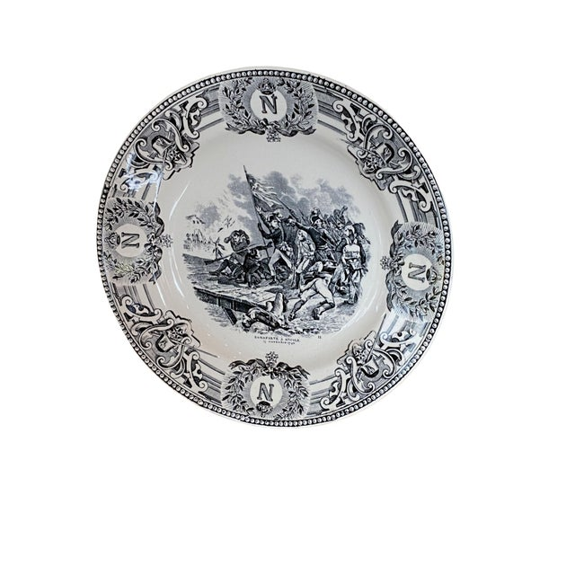 19th Century Boch Freres Napoleonic Plate For Sale In Dallas - Image 6 of 6