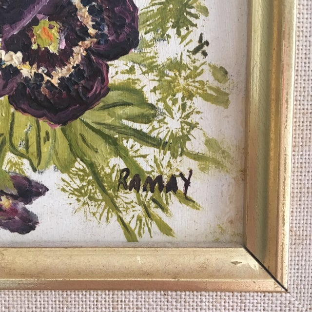 Vintage Floral Oil Painting - Image 4 of 6