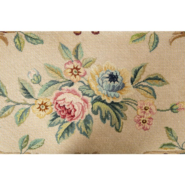 French Needle Point Cushioned Bench For Sale - Image 4 of 8