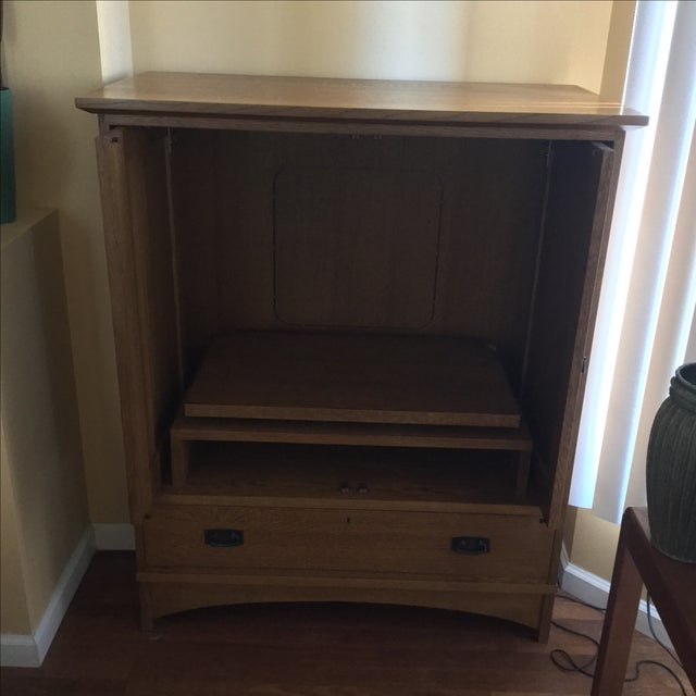 Stickley Mission Style Entertainment Armoire - Image 3 of 9