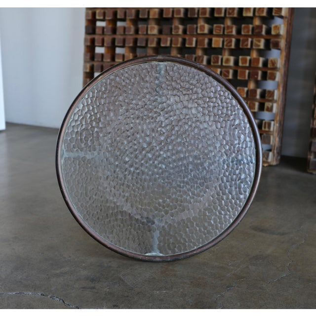 Bronze and Pebble Glass Side Table by Kipp Stewart for Terra Circa 1965 For Sale In Los Angeles - Image 6 of 9