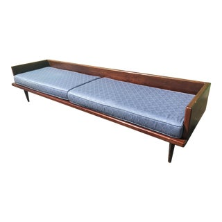 Vintage Mid-Century Oak Daybed Sofa For Sale