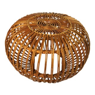 Franco Albini Wicker Ottoman For Sale