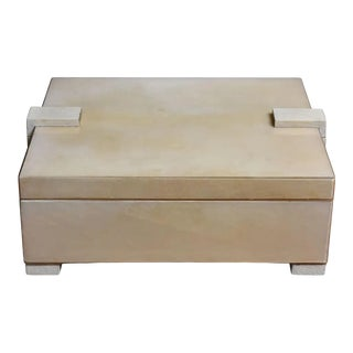 Parchment and Shagreen Box For Sale
