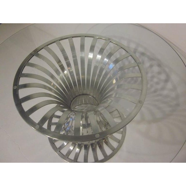 Mid-Century Modern Russell Woodard Aluminium and Glass Dining Table For Sale - Image 3 of 8