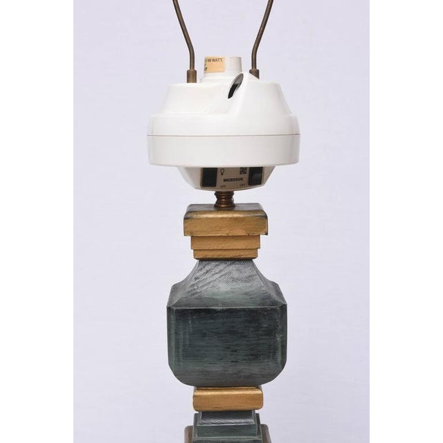 Monumental Wooden Table Lamps, 1960s, USA For Sale - Image 9 of 10