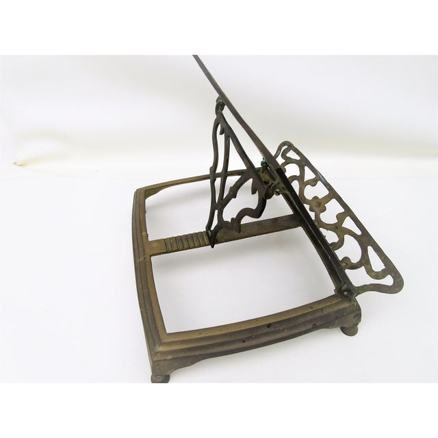 Adjustable Brass Easel Stand - Image 4 of 9