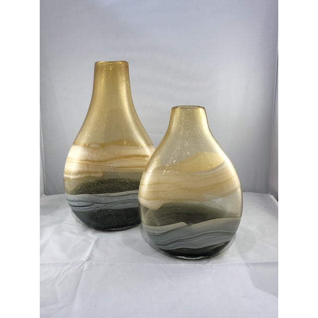 Blown Glass Vases - a Pair For Sale - Image 9 of 11