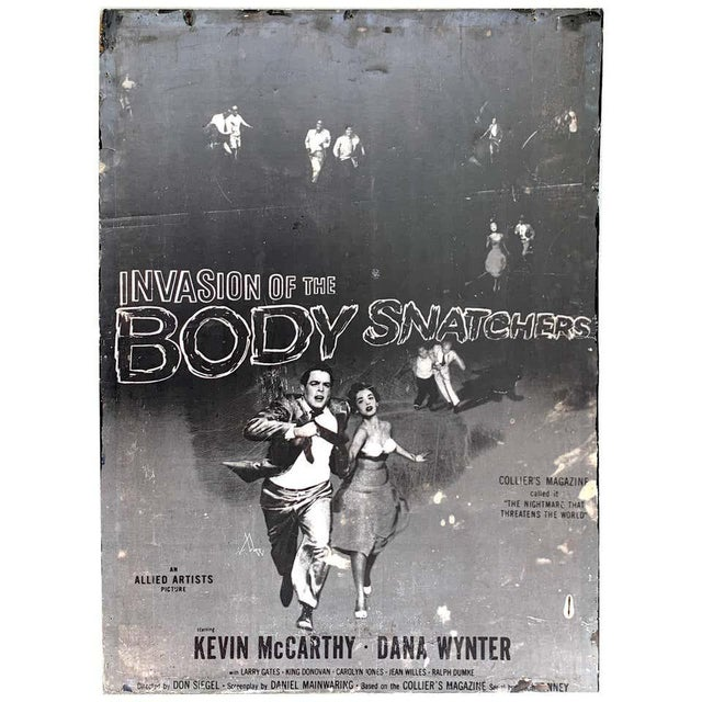 Invasion of the Body Snatchers, Black & White Movie Theatre Poster, 1956 For Sale - Image 13 of 13