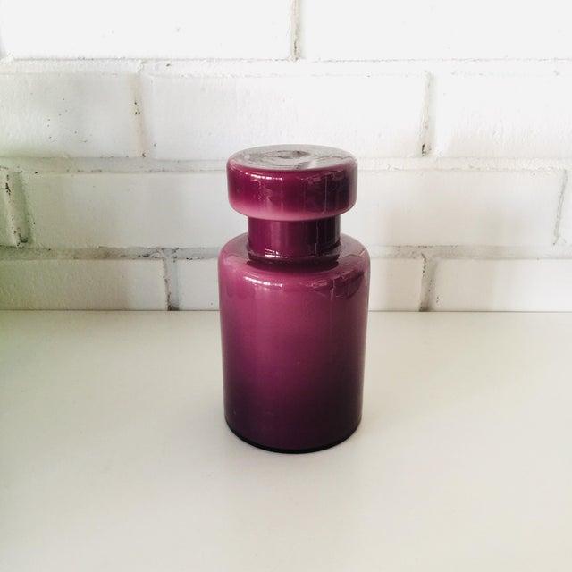 Rainbow Empoli Cased Glass Jars - Set of 7 For Sale - Image 9 of 11