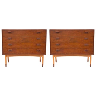 Pair of Borge Mogensen Teak and Beech Chests For Sale