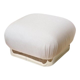 Karl Springer Large Souffle Pouf or Ottoman For Sale