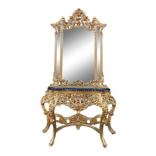 Antique Console With Mirror For Sale