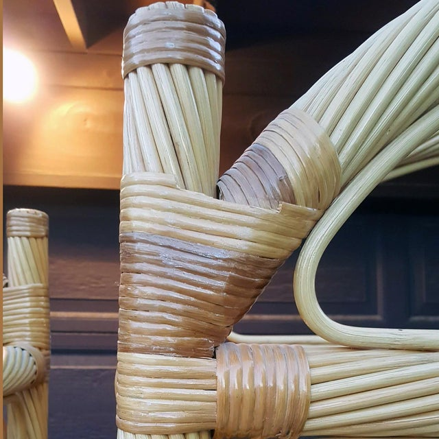 Caning Ficks Reed Chippendale Style Rattan Étagères - a Pair For Sale - Image 7 of 13