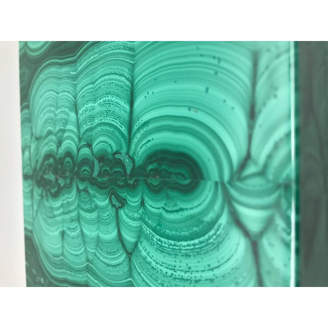 Early 21st Century Very Large Malachite Box with Hinged Lid For Sale - Image 5 of 10