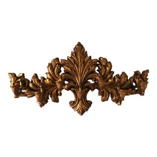 Vintage Mid-Century Giltwood Gold Sconce For Sale