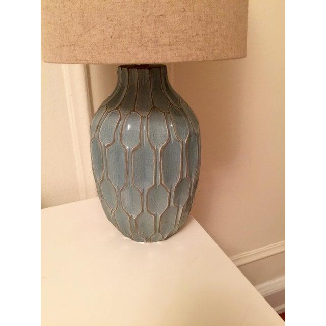 West Elm Handmade Ceramic Lamps - A Pair - Image 6 of 9
